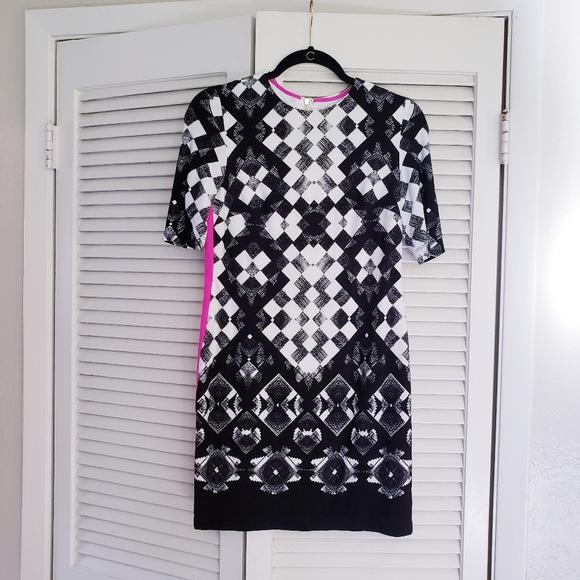 Eliza J Abstract Geo Mini Dress 2 p